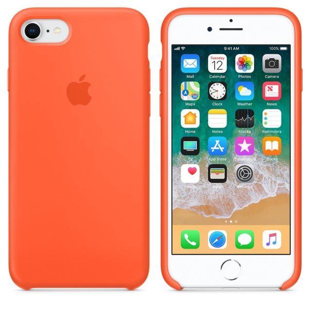 Чехол силиконовый Apple Silicone Case iPhone 7 и 8 Orange, Чохол силіконовий Apple Silicone Case