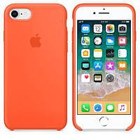 Чехол силиконовый Apple Silicone Case iPhone 7 и 8 Orange, Чохол силіконовий Apple Silicone Case, фото 1