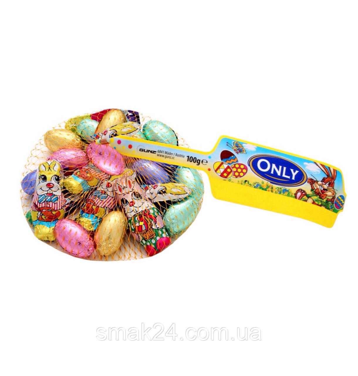 Шоколад молочный Зайчики и цветные яйца  Only Австрия 100г