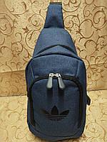 (36*18-большое)Барсетка adidas слинг на грудь мессенджер 600d Унисекс/Cумка спортивные для через плечо(ОПТ) , фото 1
