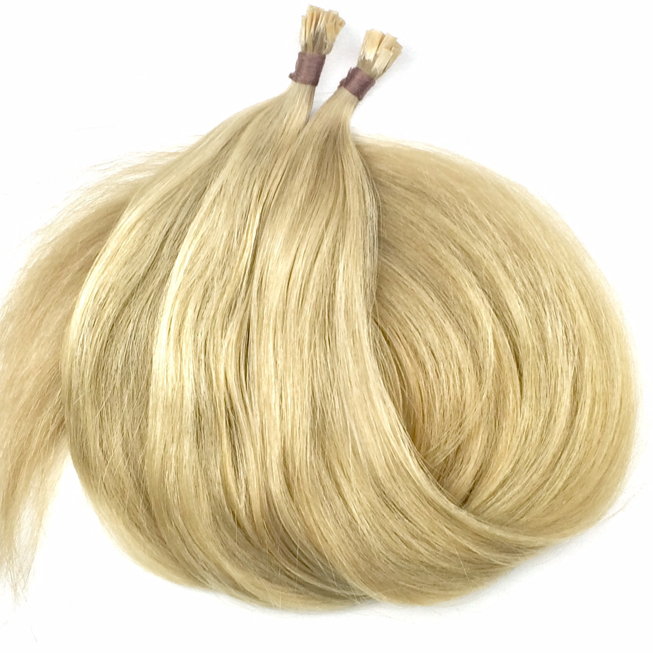 Славянские волосы на капсулах 60 см. Цвет #Холодный блонд