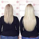 Славянские волосы на капсулах 60 см. Цвет #Холодный блонд, фото 6
