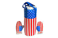 "Боксерский набор 0003DT БОЛ ""Америка"" (груша, перчатки)"