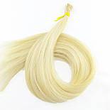 Славянские волосы на капсулах 60 см. Цвет #Холодный блонд, фото 2