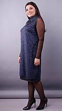 Платье демисезонное женское больших размеров: 50-52,54-56,58-60,62-64, фото 3
