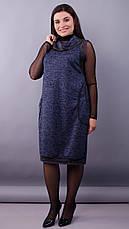 Платье демисезонное женское больших размеров: 50-52,54-56,58-60,62-64, фото 2
