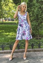 Сарафан летний лилии Viravi Wear, модель 1012