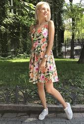 Сарафан літній троянди Viravi Wear, модель 1012