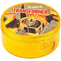 "Точилка "" Kite "" Transformers круглая, с контейнером (24) №TF17-116"