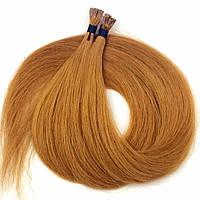Славянские волосы на капсулах 50 см. Цвет #Рыжий, фото 1