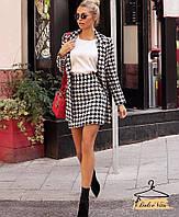 Женский стильный теплый костюм Твид