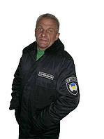Куртка утеплённая с меховым воротником для работников охраны