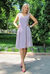 Платье Долли голубое Viravi Wear, модель 1013