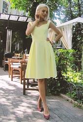 Платье Долли желтое Viravi Wear, модель 1013