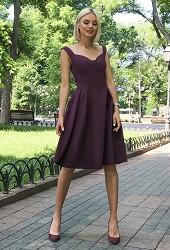 Платье Долли марсала Viravi Wear, модель 1013