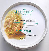 Паста для шугаринга классическая полутвердая с медом  200г Янтарика