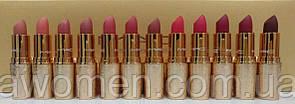 Набор помад MAC matte lipstick rouge a levres Gold (12 цветов)
