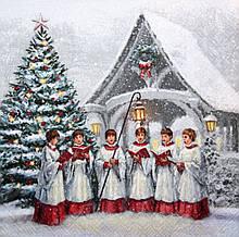 Салфетка для декупажа Рождественский хор 7801