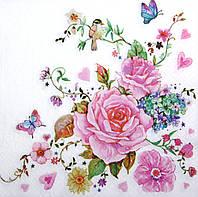 Салфетка для декупажа Розы 7803