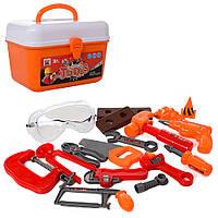 Набор инструментов 36778-126 (30шт) дрель, пила, молоток, очки, ключи, в чемодане,21,5-15-14,5см