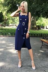 Платье-сарафан синее Viravi Wear, модель 1014