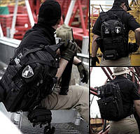 Рюкзак тактический  однолямочный 21 л цвет черный/олива/койот (рт11)