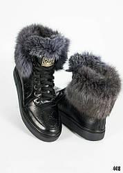 36, 38, 39 розмір! Зимові жіночі черевики G/cci з обробкою натуральним хутром (кролик) шкіра