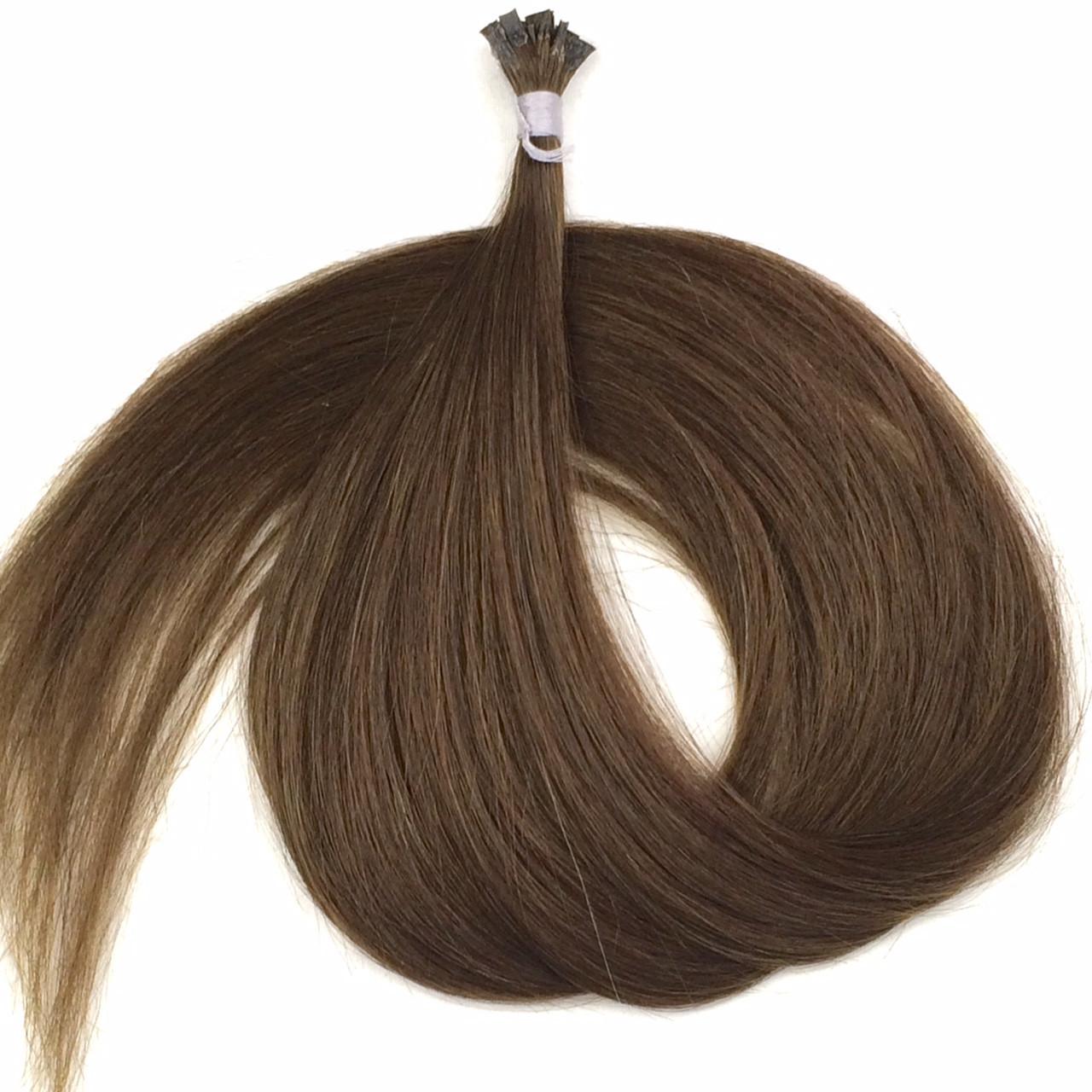 Славянские волосы на капсулах 70 см. Цвет #Натуральный русый, фото 1