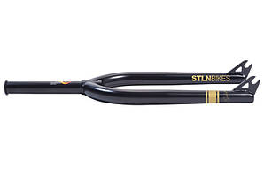 "Вилка 24"" STOLEN Gold Threadless 11/8"", 10mm Axle с заглушкой, Matte ED Black"