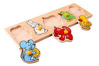 Рамка-вкладыши Детеныши Lam Toys 5 деталей