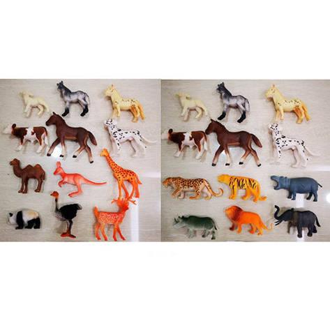 Набор животных 333, от 5,5 см, 12 шт. (Y) , фото 2