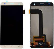 Дисплей (LCD) Fly FS504 Cirrus 2 | Nomi i504 с тачскрином белый orig
