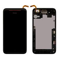 Дисплей (LCD) HTC Desire 210 Dual Sim с тачскрином и рамкой, чёрный ориг. к-во