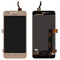 Дисплей (LCD) Huawei Y3 II | LUA-U22 3G с тачскрином золотистый