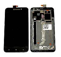 Дисплей (LCD) Lenovo S939 с тачскрином чёрный orig