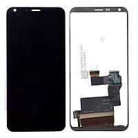 Дисплей (LCD) LG Q6 с тачскрином чёрный