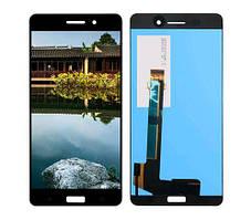 Дисплей (LCD) Nokia 6 Dual Sim с тачскрином чёрный