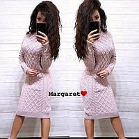 Вязанное фигурное платье К 454, фото 1