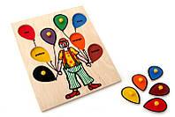 Рамка-вкладыши Клоун Lam Toys 8 деталей