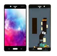 Дисплей (LCD) Nokia 8 Dual Sim с тачскрином чёрный