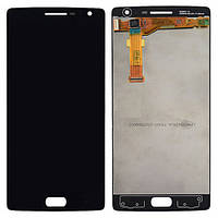 Дисплей (LCD) OnePlus 2 с тачскрином и рамкой чёрный