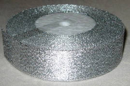 Лента парча 2,5 серебро