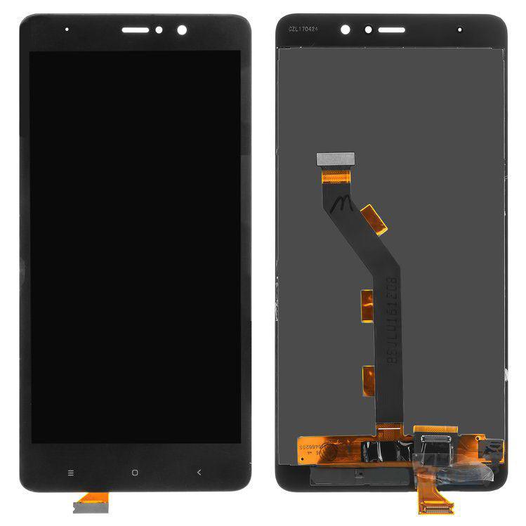 Дисплей (LCD) Xiaomi Mi5s Plus с тачскрином, сервисный ориг., чёрный