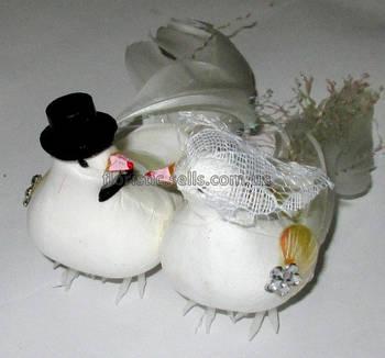 Голуби искусственные 13 см, свадебные