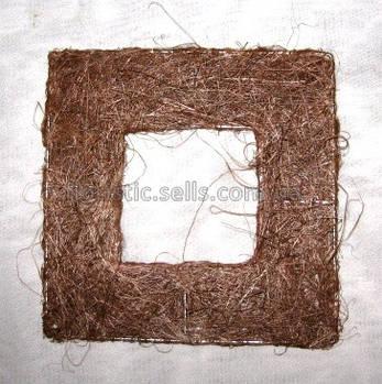 Рамка из сизаля 40*40 см, коричневая