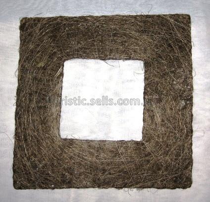 Рамка из сизаля 25/25 см, коричневая