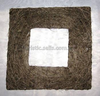 Рамка з сизалю 25/25 см, коричневий