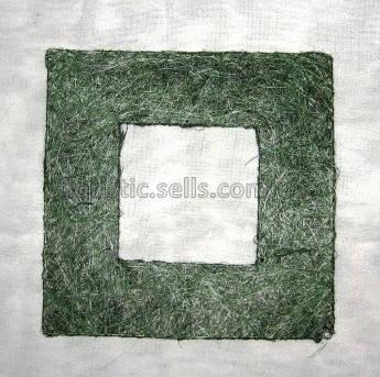 Рамка из сизаля 15/15 см, серебристая