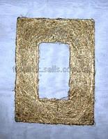 Рамка из сизаля 20*30 см, золотистая