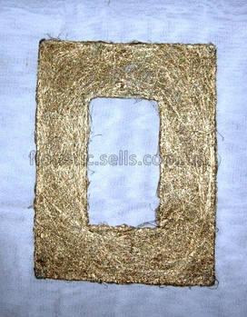 Рамка з сизалю 20*30 см, золотиста
